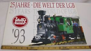 LGB G SCALE GARDEN TRAINS 1993 COLOR WALL CALENDAR SHARP!