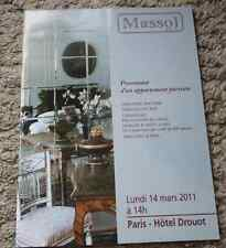 CATALOGUE VENTE 2010 Drouot Massol mobilier collection diminutifs Comte de Paris
