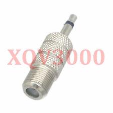 1pce Adapter converter F TV female jack to 3.5mm mono male plug RF COAXIAL RG6