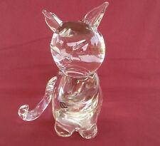 "Large MURANO Glass SITTING CAT Figurine  8"" H"