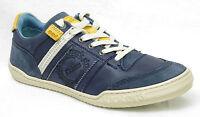 KICKERS JEXPLORE chaussures Baskets homme cuir bleu jaune taille 40