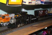 Rail King B-6 steam Engine & tender 0-6-0 NIB #30-1206-1 W/proto sound 2.0 P.E.