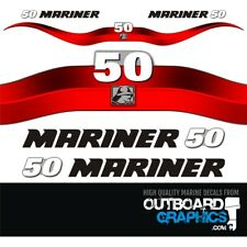 Mariner 50hp 2 stroke outboard decals/sticker kit
