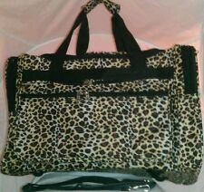 "Leopard Animal Print Duffle Bag Suitcase Carry On Gym Tote 22"" Long New W/ Tags"