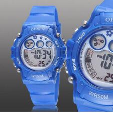 Ohsen Teen Kid Digital G Sport 12/24 Hour Alarm Quartz Watch Proof Shock Blue