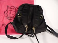 Rabbit Bunny Long Ears Nylon Black Backpack Bag Purse