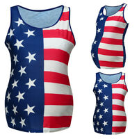 Women Maternity 4th Of July Vest Tank Sleeveless Tops Pregnant Nursing Tee Shirt