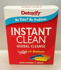 4 Boxes of New Detoxify Instant Clean Herbal Cleanse 3 Caps with Free Shipping