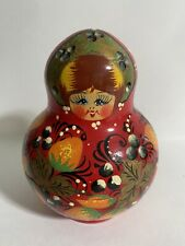 Vintage 8pc. Wooden Russian Nesting Stacking Dolls Matryoshka Signed By Artist