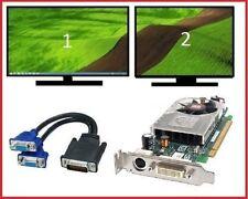 Dell Optiplex 960 980 990 SFF Low-Profile Dual VGA Monitors Video Card PCI-e x16