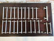 23 Chromed Brass Art Deco Handles.