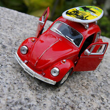 Vw Beetle 1967 Classic + surfboard Model Cars Toys Gifts Alloy Diecast New Red
