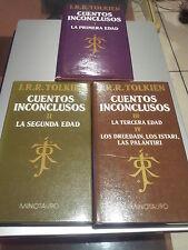 CUENTOS INCONCLUSOS - TRILOGIA COMPLETA- 3 TOMOS - 1ª EDICION - J. R. R. TOLKIEN