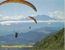 Postcard Colorado Glenwood Springs Hang Gliding Garfield County MINT