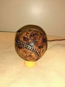 Vintage leather Baseball Ball sports display amazing patina