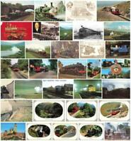 Rare Vintage Railway Postcards - Locomotive Engine - Trains Many Available.