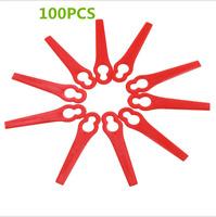 100X Paquet Lames En Plastique Pour FRT18A FRT18A1 Gazon Tondeuses Rouge Jardin