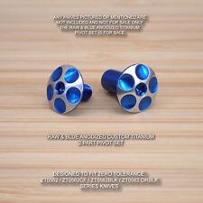 Zero Tolerance ZT0562 ZT 562Ti RAW & BLUE Anodized Titanium Pivot Torx Screw Set