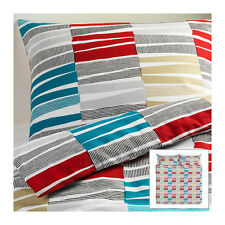 Ikea King Duvet Quilt Cover 3 piece Set with Snaps Lappljung Rand King Bedding