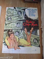 WHAT A WAY TO GO 1964 SHIRLEY MACLAINE,NEWMAN ORIGINAL HUGE FRENCH CINEMA POSTER