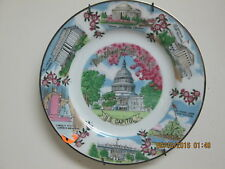 U.S Capitol Plate with Pictures of U.S. Supreme Court,U.S Marine Corps and so on