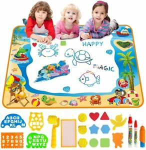 Water Doodle Mat Aqua Drawing Painting Mat Large 100x70cm Mess Free Learning toy