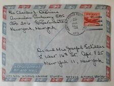 US Greece military embassy cover airforce APO 223 Athens 1957 to NY; american