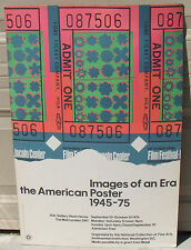 1976 Andy Warhol Images American Poster Ticket Stub Pop Art Nash House London