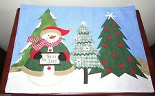 Snowman Patchwork Place Mat - Snowman & Trees by Essential Home