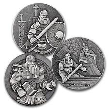 2016 3-Coin 6 oz Silver Set Viking Series - SKU #104132