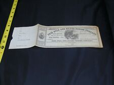 Scripophily Erie Gold & Silver Mining Company 1860's Stock Certificate