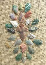 24 pc bulk arrowheads 1 stone cross spearhead  reproduction  collection kx896