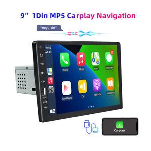 single 1DIN 9'' Apple carplay android auto Car Radio Stereo BT MP5 Player/Camera