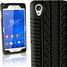 Black Tyre Silicone Gel Skin Case for Sony Xperia Z3 D6603 Rubber Cover