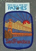 "VTG 4"" San Francisco CA Golden Gate Bridge iron on embroidered patch"