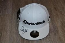 DUSTIN JOHNSON SIGNED TOUR ISSUE TAYLORMADE WHITE HAT NEW FLAT BILL