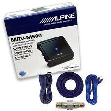 Alpine Mrv-M500 Mono 500 Watts +4 Gauge Amplifier Installation Kit