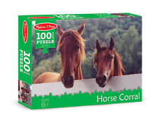 HORSE CORRAL JIGSAW PUZZLE~100 pcs~ Melissa and & Doug 8944