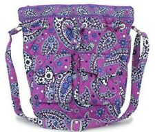 Vera Bradley Quick Draw Boysenberry Cross Body Purse Purple Blue White Bag