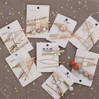 Styling Accessories Colorful Beads Pearls Barrette Hair Clips Women Hairpins