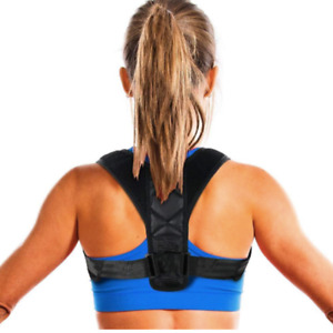 2 x Posture Clavicle Corrector Support Adjustable Back Brace Shoulder Strap