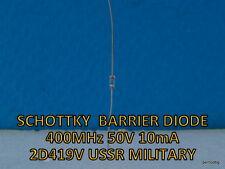 SCHOTTKY  BARRIER DETECTOR  DIODE 400MHz  50V 10mA  2D419V  2Д419В USSR MILITARY
