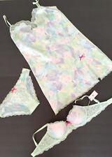 32D Victoria's Secret Dream Angels Limited Edition Demi Bra + slip+ cheekini set
