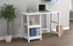 """Computer Desk 44"""" / 2 Open Concept Shelves"""
