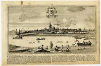 Antique Print-VLAARDINGEN-MEUSE-MAAS-30-SOUTH HOLLAND-Bouttats-Peeters-1680