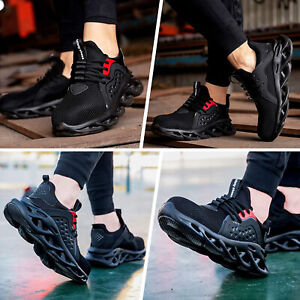Lightweight Mens Women Safety Shoes Steel Toe Cap Work Shoes Trainers Boots