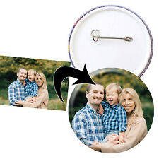 More details for personalised photo badges, 25mm, 38mm or 58mm, stag hen bespoke birthday badge