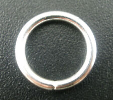 300 PCs Silver Plated Open Jump Rings 12x0.9mm SP0070