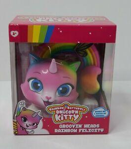 Rainbow Butterfly Unicorn Kitty Groovin' Heads Rainbow Felicity Bobble Head New