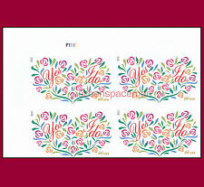 4765a Yes I Do 66c Wedding Imperf UL Plate Block from Press Sheet No Die Cuts